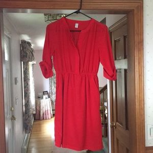 NWOT red dress with pockets, size XS